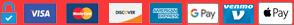 Visa Mastercard Discover Amex American Express Google Pay Venmo