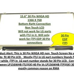 156 LED Laptop Screen 30 Pin eDP