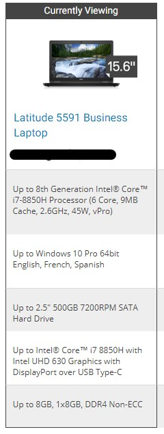 dell latitude 5591 laptop